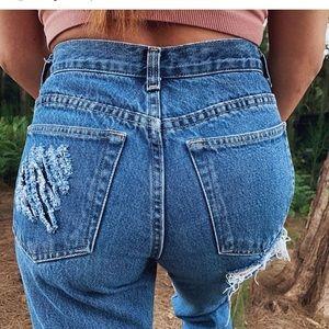 Land's End Distressed Boyfriend Jeans